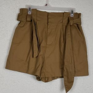 NWT all in favor high waist shorts size large